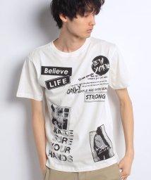 STYLEBLOCK/綿100%ビッグシルエットワッペンプリントTシャツ/500835313