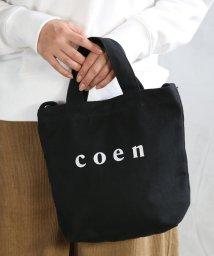 coen/【2018SS新作 Sサイズ】coen2WAYロゴトートバッグ/500840487