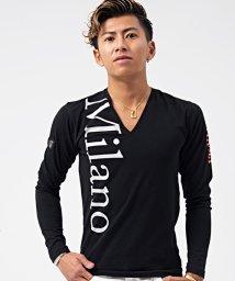 VIOLA/VIOLA【ヴィオラ】MilanoプリントVネック長袖Tシャツ/500857499