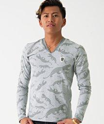 VIOLA/VIOLA【ヴィオラ】アニマル総柄Vネック長袖Tシャツ/500857505