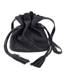 titivate/フェイクレザーパンチング巾着バッグ/500859003