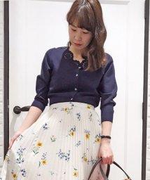 Noela/カットワーク刺繍ニットカーディガン/500859596