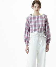 GRACE CONTINENTAL/チェックシャツトップ/500860220