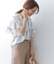 URBAN RESEARCH DOORS/【予約】ストライプフレアスリーブブラウス/500860554