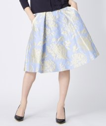 LANVIN en Bleu/コットンフラワージャガードスカート/LB0004879