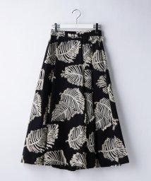 Ravissant Laviere/リーフカットジャガードスカート/500850945