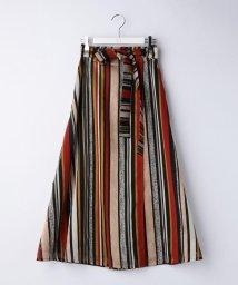 Ravissant Laviere/マルチストライプオーガンジースカート/500850946