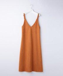Ravissant Laviere/人工皮革スエードワンピース/500850950