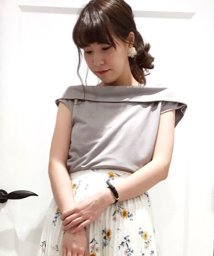 Noela/【汗シミ防止】オフタートルカットソー/500859607