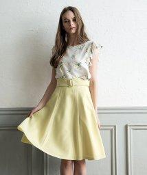 Noela/ベルト付サマーカラーフレアスカート/500859614