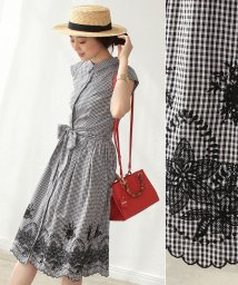 Noela/★【美人百花5月号掲載】裾レース刺繍シャツワンピ/500859622