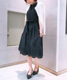 Noela/裾レース刺繍シャツワンピ/500859622