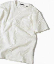 SHIPS MEN/SC: MADE IN JAPAN モチーフ ジャガード/チェック ポケット Tシャツ/500860912