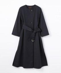 TOMORROWLAND collection/ドライツイル ノーカラーベルテッドコート/500860914