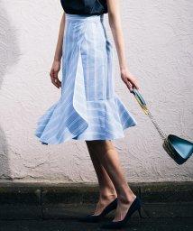 Viaggio Blu/【洗濯機OK】ストライプイレギュラーマーメイドスカート/500861028