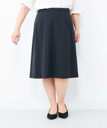 eur3/【大きいサイズ】万能!仕事着にも使える膝丈スカート/500861333
