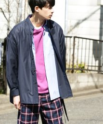JUNRed/マオカラーベルテッドシャツ/500861607