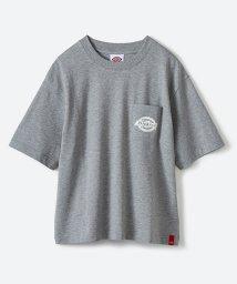 haco!/Dickies別注 ゆったり着られてちょうどいい ロゴプリントポケットTシャツ/500862550