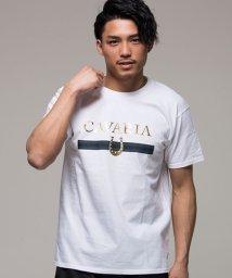 CavariA/CavariA【キャバリア】ロゴ箔プリントクルーネック半袖Tシャツ/500863411