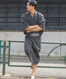 CavariA/CavariA【キャバリア】すぐに出かけられるフルセット 男性浴衣2018(浴衣 + 帯 + 下駄 3点セット)/500863443