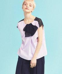 LANVIN en Bleu/【予約商品】メッシュリボンブラウス/LB0004915