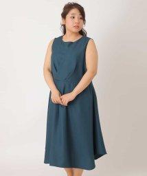 eur3/【大きいサイズ】【3way】タックデザインワンピースドレス/500818937