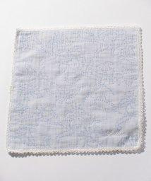 Leilian/フラワー調織り模様ハンカチ/500822767