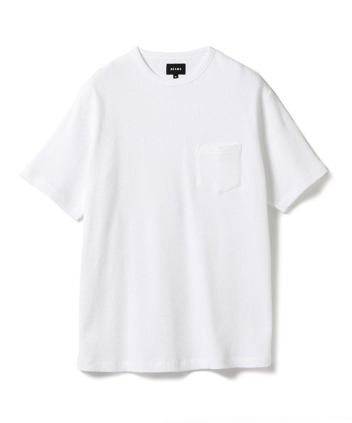 BEAMS / サーマル ポケット クルーネック Tシャツ
