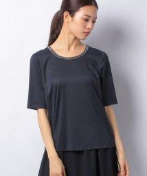 Leilian PLUS HOUSE/ネックアレンジTシャツ/500822809