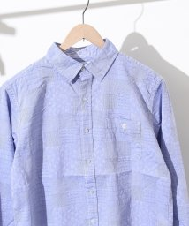 coen/ジャガードパッチワークレギュラーカラーシャツ/500853738
