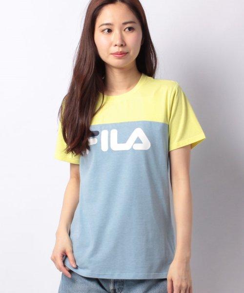 FILA(フィラ)/FILAロゴ切替Tシャツ/418602
