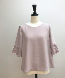 Noela/袖レース刺繍ブラウス/500859605