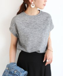 and Me.../【L-8】フレンチスリーブ ニット カットソー 半袖 Tシャツ トップス/500452416