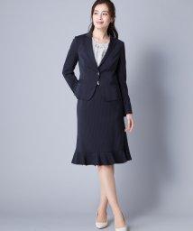 Leilian PLUS HOUSE/ピンストライプ柄スーツ/500822853