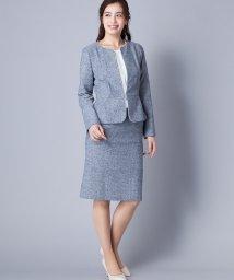 Leilian PLUS HOUSE/ノーカラージャケット×ミディ丈スカートスーツ/500822871