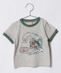 petit main/ブルドッグサーフプリントTシャツ/500831540