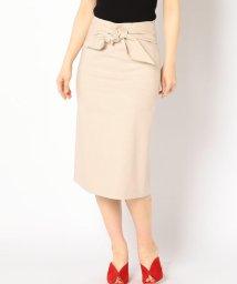 SHIPS WOMEN/ソリッドウエストリボンタイトスカート/500867951