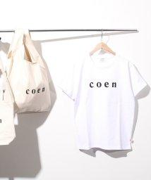 coen/【新色登場・WOMENS】coen(コーエン)ロゴTシャツ/500869124