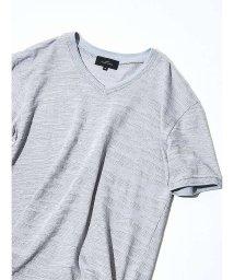 ABAHOUSE/【Recency of Mine】ランダムカモジャカードボーダーVネックTシャツ/500722426