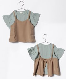 b-ROOM/袖ボリュームTシャツ×キャミソールセット/500831533
