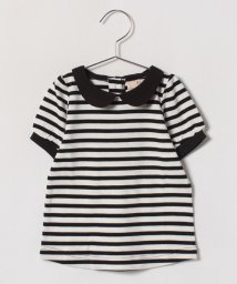 petit main/丸衿つきパフスリーブTシャツ/500846181
