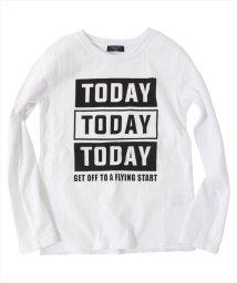 GLAZOS/TODAYプリント長袖Tシャツ/500869569