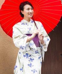 Dita/Dita【ディータ】1人で簡単に着られる作り帯の可愛い女性浴衣 4点フルセット(ゆかた・作り帯・下駄・着付けカタログ)/500870493