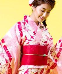Dita/Dita【ディータ】1人で簡単に着られる作り帯の可愛い女性浴衣 4点フルセット(ゆかた・作り帯・下駄・着付けカタログ) /500870497