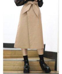 dazzlin/ミディ台形ラップスカート/500871523