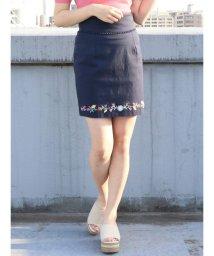 dazzlin/フラワーヘム刺繍ミニスカート/500871530