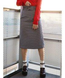 dazzlin/ベルト付チェックナロースカート/500871680