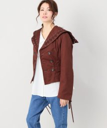 JOINT WORKS/G.V.G.V cotton twill laceup blazer/500874750