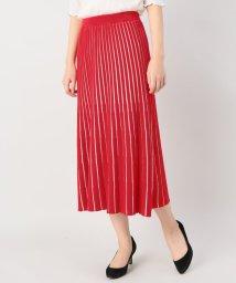 JOINT WORKS/G.V.G.V sheer stripe knited skirt/500874763