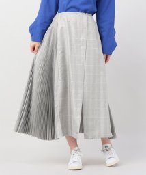 JOINT WORKS/rito side pleats metallic check sk/500874766